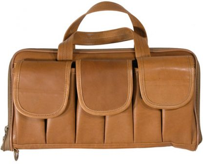 Long Pistol Case - Tan Leather
