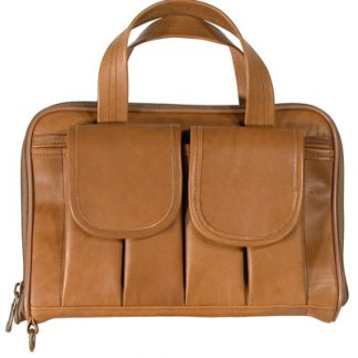 Short Pistol Case - Tan Leather