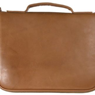 Square Pistol Case - Tan Leather