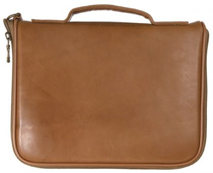 Square Pistol Case - Tan Leather